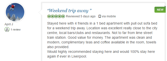 BASE Serviced Apartments Testimonials 6