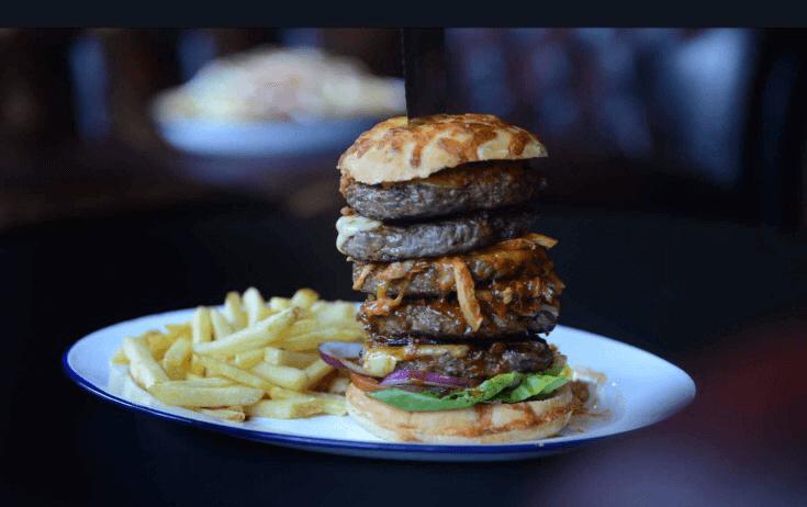 rack and dollar burger