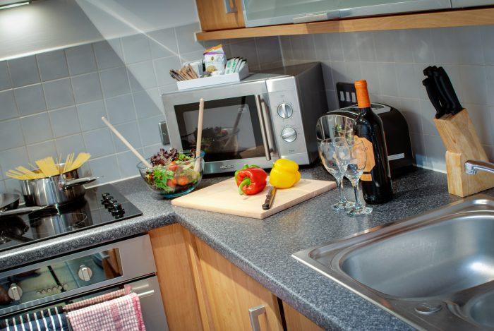 kitchen in cumberland street liverpool apartment
