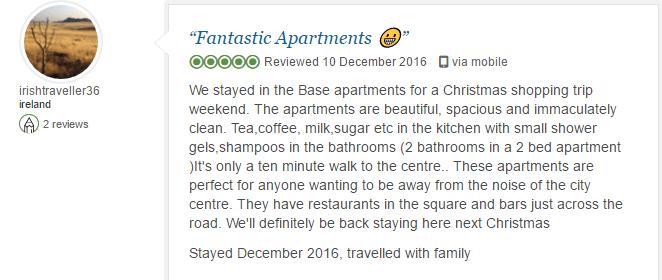 BASE Serviced Apartments Testimonials 1