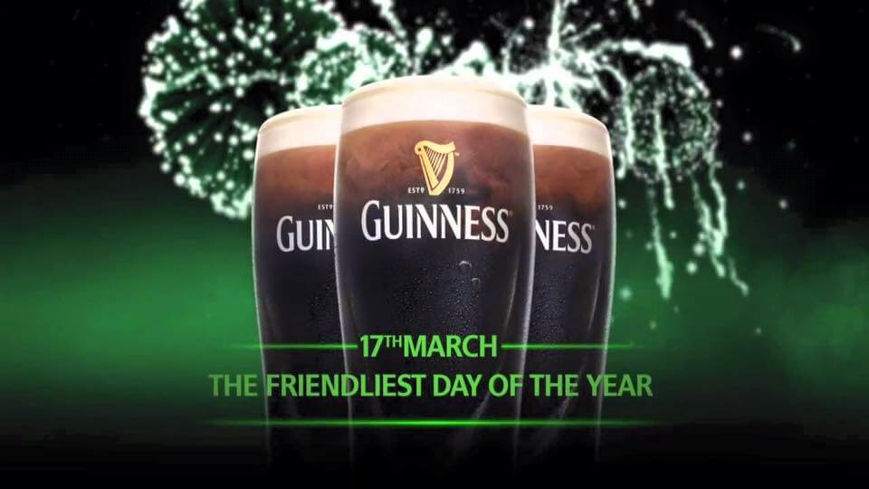 St Patrick's Day March 17th Guinness