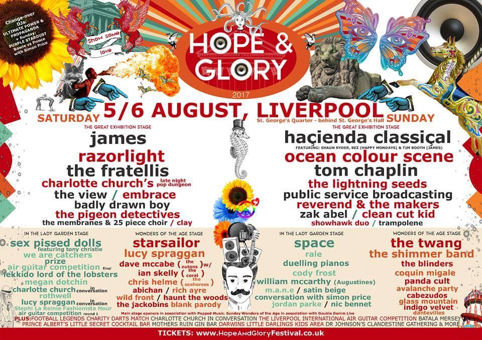 Hope & Glory Festival Liverpool August 2017