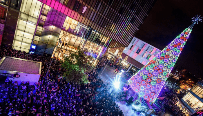 Liverpool One Christmas Lights Switch - November 2017