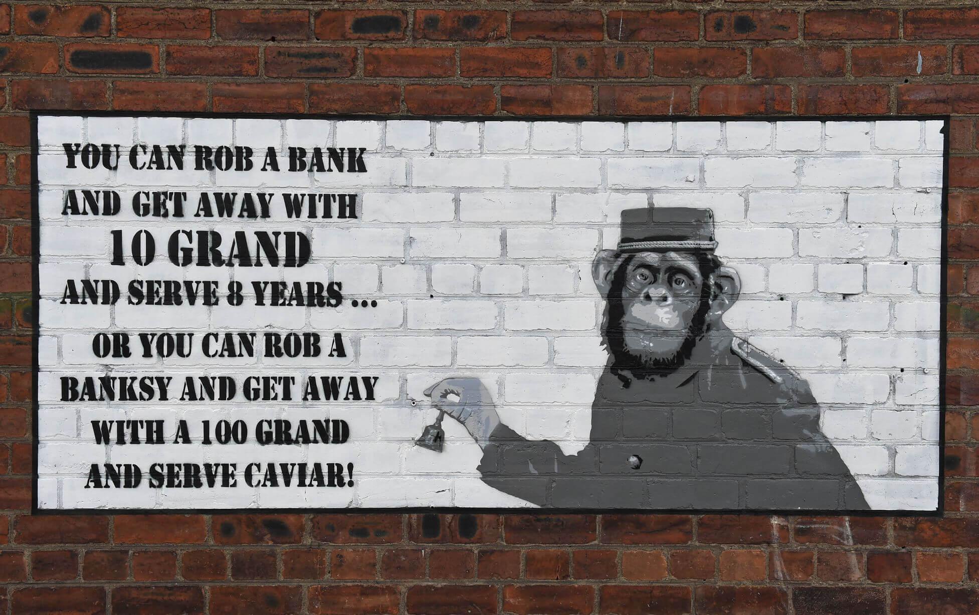 Banksy Style Graffiti Jamaica Street Liverpool