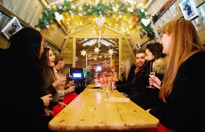 bar hutte liverpool one karaoke christmas 2018 liverpool christmas market