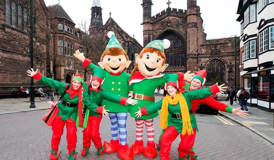 chelfie and elfie chester elves christmas city centre 2018
